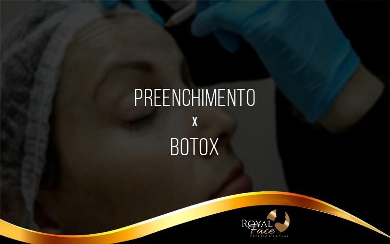 Qual a diferença entre Botox e Preenchimento facial?